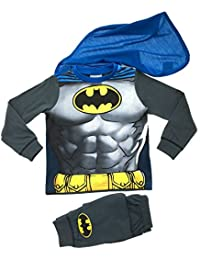 Little Boys Fancy Dress Up Play Costumes Pyjamas Nightwear PjS Pjs Set Batman Party Batman