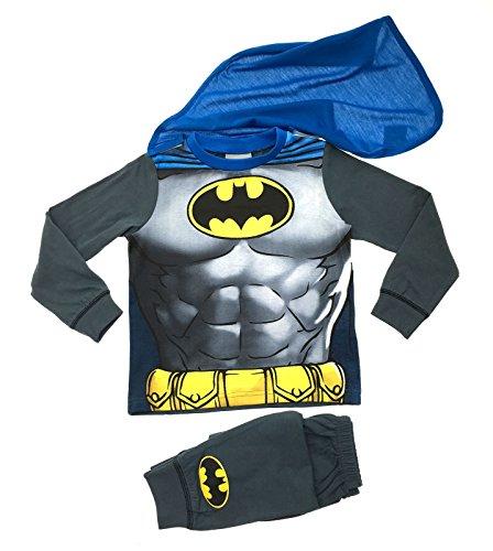 Lora Dora Little Boys' Fancy Dress Up Play Costumes Pyjamas Nightwear Pj'S Pjs Set Batman Party Batman With Cape 7-8 Years