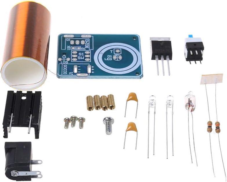 Anjuley - Mini Tesla - Kit de Bobina electrónica para Bricolaje, Piezas de transmisión inalámbrica