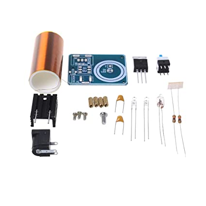 Zripool 9-12V BD243 Mini Tesla Coil Kit Electronics DIY Parts Wireless  Transmission DIY Board Set