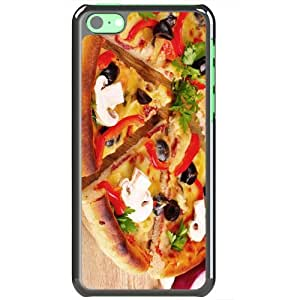 Apple iPhone 5C Cases Customized Gifts Of Food and Drink pizzas desktop Black