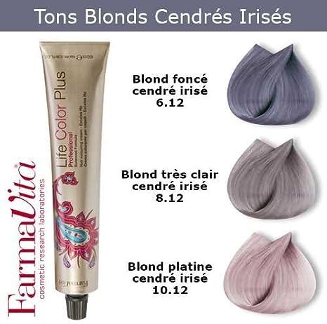 Coloración Cabello FARMAVITA – tonos blonds cendrés irisado, mineral Collection Shades Pastels Rubio Claro Ceniza irisé 8.12