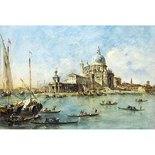 FORWIN US Puzzle House ⏰PT Wooden Jigsaw Puzzle Oil Painting, 18th 19th Century Water City Venice Scenery Italy Photography Art, Fine Cut & Fit 300~1000pc Boxed Toys Game for Adults & Kids 510 ()