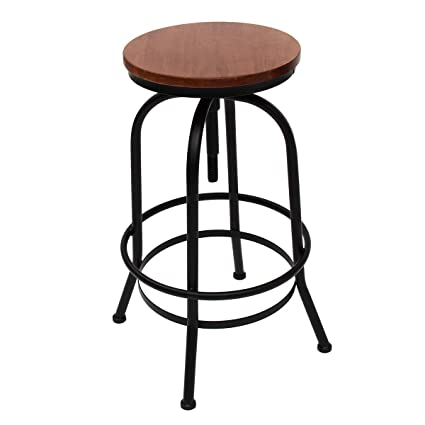 Cool Amazon Com Kingso Vintage Bar Stools Industrial Style Gmtry Best Dining Table And Chair Ideas Images Gmtryco