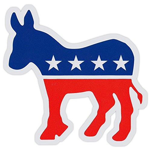 Bumper Sticker Decal - Democrat Party Donkey - Liberal, Democratic - Sticker Donkey