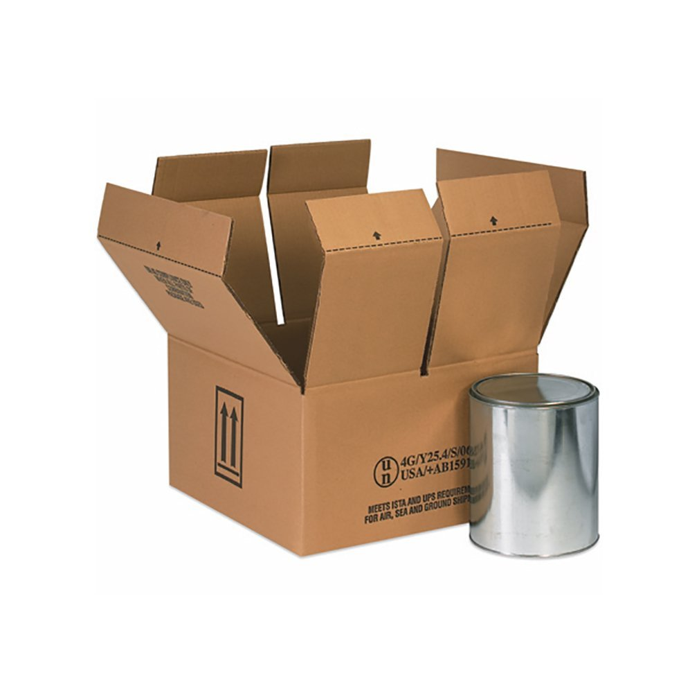 RetailSource B090905HM500 Hazmat Box, 5'' Height, 9.4375'' Width, 9.375'' Length, Brown (Pack of 500)