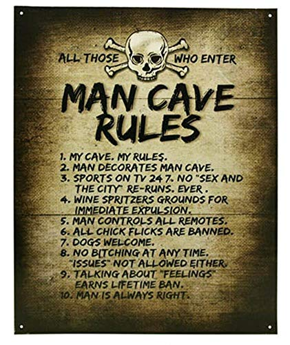 - mdrqzdfh Eletina intern Man Cave Rules Top 10 Gameroom Bar Pub Novelty Tin Sign