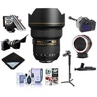 Nikon 14-24mm f/2.8G ED-IF AF-S NIKKOR DSLR Lens -Bundle with FocusShifter DSLR Follow Focus, LensAlign MkII Focus Calibration System, Peak Lens Changing Kit Adapter, 4 Section Monopod, and More