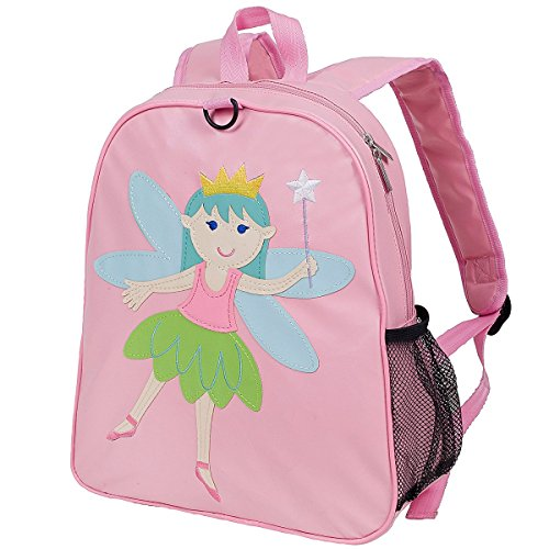 Wildkin Embroidered Backpack, Features Appliqued Design and Adjustable Straps, Perfect for Preschool, Daycare, and Day Trips, Olive Kids Design – Fairy Princess