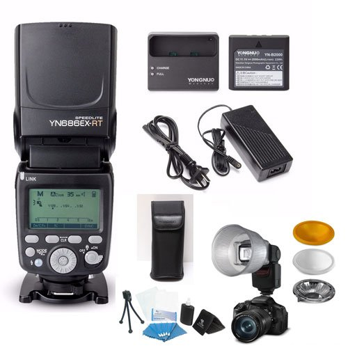 YONGNUO YN686EX-RT TTL Speedlite for Canon PRO KIT W/Lithium Battery, Charger, Power Adapter & 3 Color Lambency