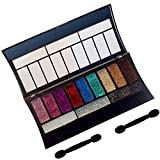 Glitter Eye Shadow Palettes 12 Colours by London Girl - Glitter Eye Makeup