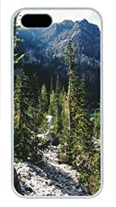 iPhone 5S Case, iPhone 5S Cases -landscapes nature mountain trees 10 Polycarbonate Hard Case Back Cover for iPhone 5/5S ?¡ìC White wangjiang maoyi