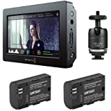 """Blackmagic Design Video Assist HDMI/6G-SDI Recorder with 5"""" Monitor & Watson LP-E6N Lithium-Ion Battery Pack of (2) Plus Vello Multi-Function Ball"""