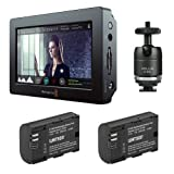 Blackmagic Design Video Assist HDMI/6G-SDI Recorder with 5'' Monitor & Watson LP-E6N Lithium-Ion Battery Pack of (2) Plus Vello Multi-Function Ball