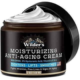 Men's Face Cream Moisturizer - Anti Aging Facial Skin Care - Made in USA - Collagen, Retinol, Hyaluronic Acid - Day & Night - Anti Wrinkle Lotion 2 oz