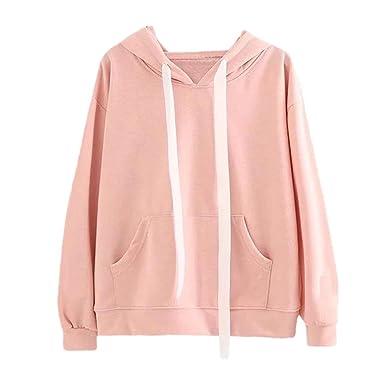 SINARU Women Hoodie Sweatshirt Casual Rabbit Ear Long Sleeve Pullover Top Blouse