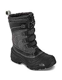 The North Face Boys' Alpenglow IV Boots (Youth Sizes 13 - 7) - black, 4 youth