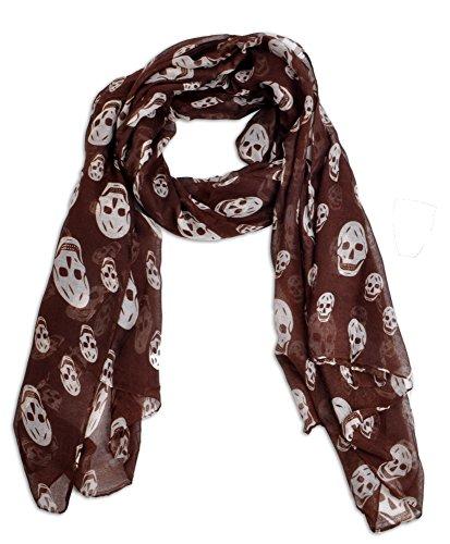 Punk Skull Viscose Oblong Scarf (Brown) - Brown Viscose Scarf Shopping Results