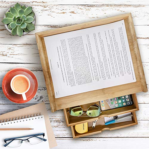 Prosumers Choice 3-Tier Bamboo Desktop Organizer with 8.5x11 Inch Letter Size Drawers Aleratec