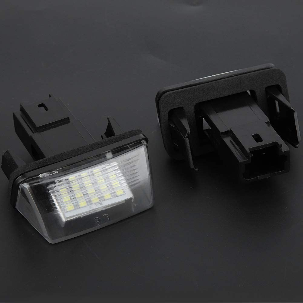 EBTOOLS L/ámpara de licencia de coche 2 piezas 18 LED de luz de placa de licencia de coche izquierda y derecha para C3 2002-2009