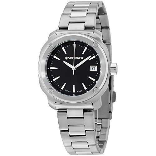 Wenger Black Dial Stainless Steel Ladies Watch 011121101