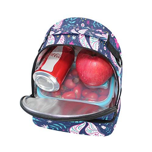 isotherme Boîte pour Alinlo avec à Tote l'école lunch Pincnic Cooler Sac Papillon à bandoulière coloré réglable wYwnWqR4