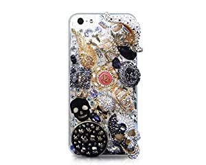 3D Stylish Rhinestone Series iPhone 5 Case - Pirate