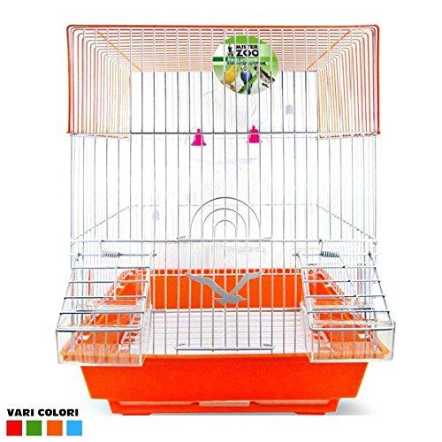 Jaula para Pájaros Canarios Periquitos forma cuadrada con ...