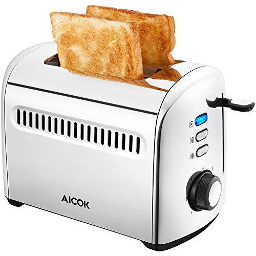 Aicok Toaster, 2-Slice Toaster