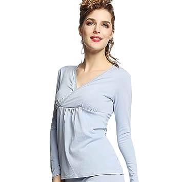 Babysbreath Pijama de lactancia materna para mujer Conjunto camisón Pijama de lactancia materna para embarazo conjunto