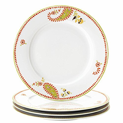 UPC 051153581113, Rachael Ray Dinnerware Paisley 4-Piece Porcelain Dinner Plate Set