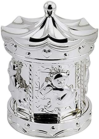 Lesser and Pavey Little Treats Silver Plated Carousel Money Box