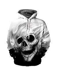Sevem-D 3D Hoodies Skulls Printed Autumn Winter Men/Women Sweatshirt Pullovers