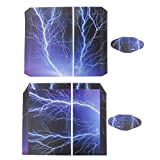 Lightning Skin Sticker For PS4 Playstation 4 Console and 2 Controller Decal Wrap Cover Set by Generic