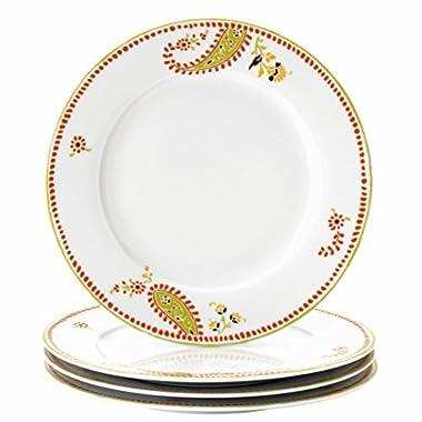 Rachael Ray Dinnerware Paisley 4-Piece Porcelain Dinner Plate Set