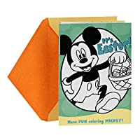 Hallmark Funny Easter Greeting Card for Kids (Disney Mickey Mouse With Maze Game and Coloring Activities)