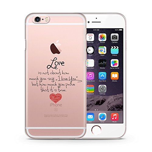 Love Is Not About iPhone 6 & 6S TRANSPARENT SLIM Hülle Hülle Cover Case Schale Design Muster Liebe Vintage Love