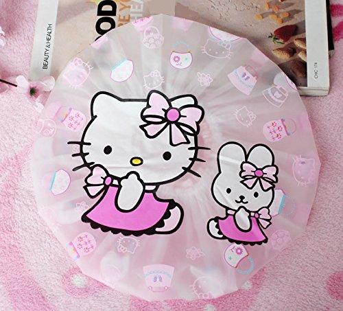 CJB Hello Kitty Bath Shower Caps Hats Rabbit (US Seller) ()