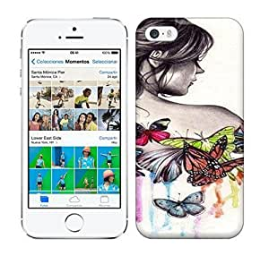 Best Power(Tm) HD Colorful Painted Watercolor Blouse With Butterfly Sleeves The Beautiful Girl Back Shoulder Hard For HTC One M7 Phone Case Cover