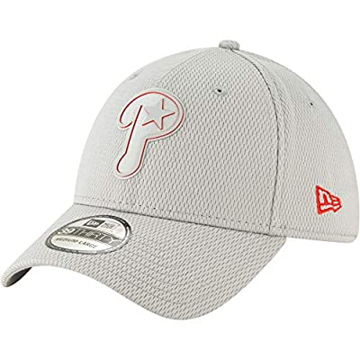 New Era MLB Philadelphia Phillies 39THIRTY Clubhouse Collection Stretch Fit Hat, Grey Cap