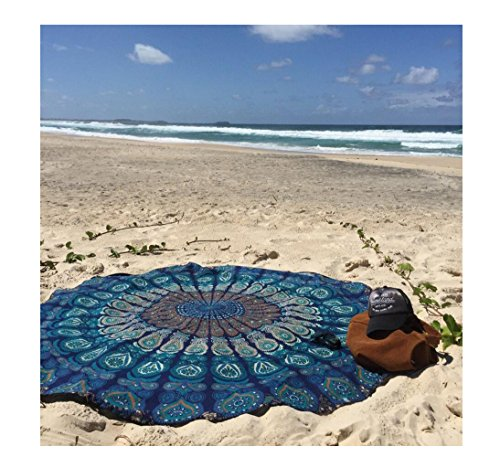 Gym Towel Online India: BeachTowel,Shufua Durable And Soft Tablecloth Beach Towel