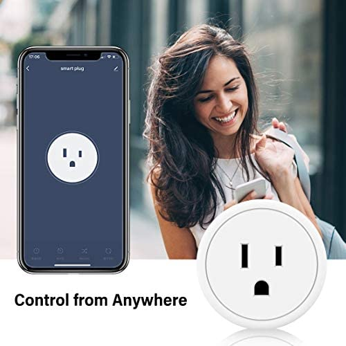 Alexa Smart Plugs – Aoycocr Mini WIFI Smart Socket Switch Works With Alexa Echo Google Home, Remote Control Smart Outlet with Timer Function, No Hub Required, ETL/FCC Listed 4 Pack Only 2.4GHz Network 511r19ayKKL