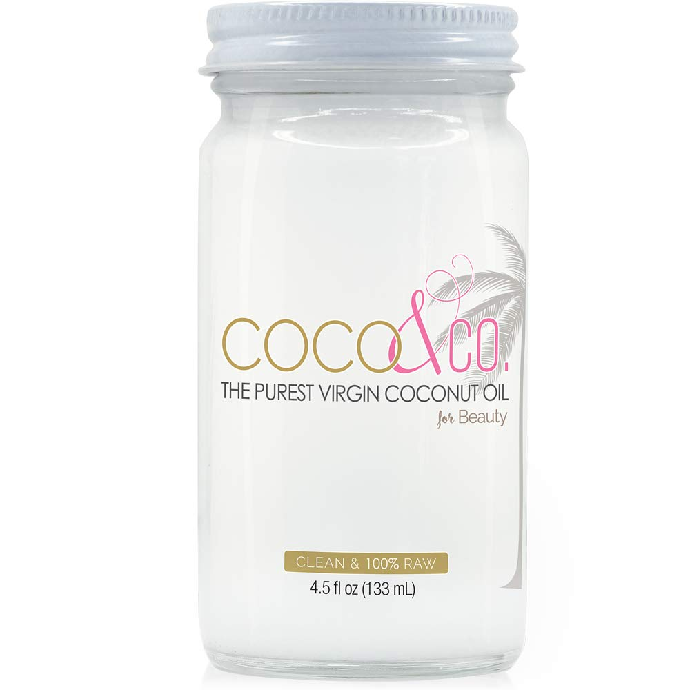 Amazon Com Pure Coconut Oil For Hair And Skin By Coco Co Clean 100 Raw Travel Size 4 5oz Beauty