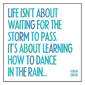 """Quotable Magnet- """"Life Isn't About Waiting for the Storm to Pass..."""" Vivian Greene"""