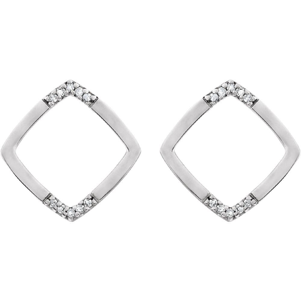 Amazon.com: FB Jewels - Juego de pendientes de oro blanco de ...