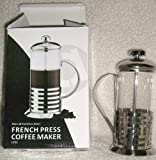 Glass & Stainless Steel French Press Coffee Maker 12 Oz For Sale