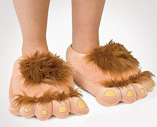 Minetom Unisex Herbst Winter Tierhausschuhe Plüsch Hausschuhe Pantoffeln Kostüme Warme Puschen Bigfoot