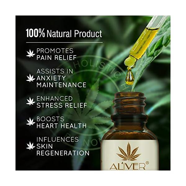 Hemp Oil Drops 30% High Strength Hemp Seed Oil 3000mg Bio-Active Organic Hemp Extract Helps with Sleep, Skin & Hair,Calm Mood,Curelty Free (2pcs 30ml)