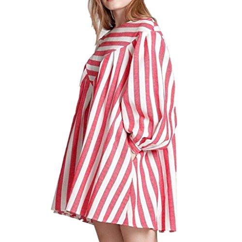 Mini Rose Partie Coton Robe Femmes Lin Manches Courte Courtes Mode Mini De Robe VJGOAL d'impression Robe De des RayE De Plage dwqdF1R