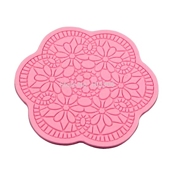 Amazon.com: Zoomy Far: Fondant Mold Silicone Lace Cake Mold Silicone Lace Mat Cake Decorating Tools Moldes De Silicona Cortadores Para Decorar Bolos: ...